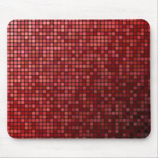 Mosaico rojo del pixel tapete de ratón