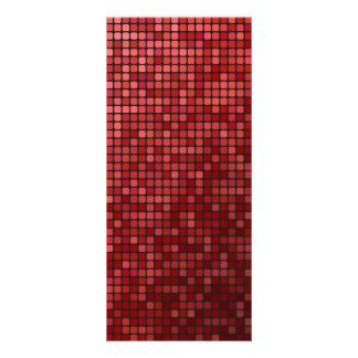 Mosaico rojo del pixel lona personalizada