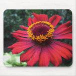 Mosaico rojo Mousepad de la flor Alfombrillas De Raton
