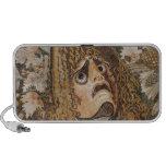 Mosaico romano, con la máscara, las hojas y la fru iPod altavoz