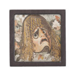 Mosaico romano, con la máscara, las hojas y la fru caja de joyas de calidad