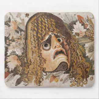 Mosaico romano, con la máscara, las hojas y la fru mouse pad