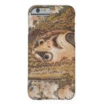Mosaico romano, con la máscara, las hojas y la funda de iPhone 6 slim