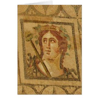 Mosaico romano del chalet en Ephesus Tarjeta Pequeña