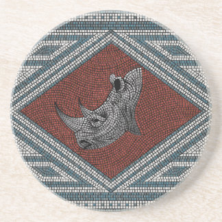 Mosaico romano del rinoceronte posavasos cerveza