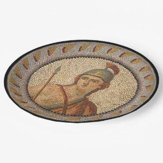Mosaico romano del soldado platos de papel