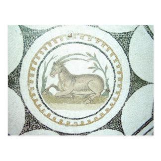 Mosaico romano tarjeta postal