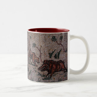 Mosaico romano taza de café de dos colores