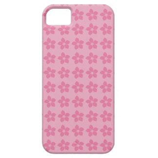Mosaico rosa de siluetas de bonitas flores alegres iPhone 5 Case-Mate cobertura