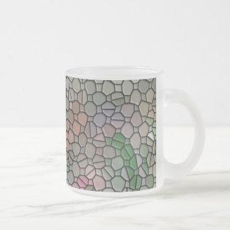 Mosaico, rosa tazas de café