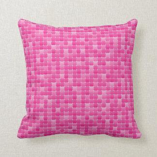 Mosaico rosado almohada