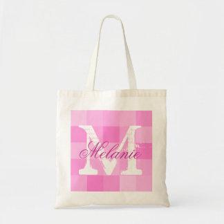 Mosaico rosado conocido personalizado de la bolsa