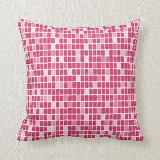 Mosaico rosado del rectángulo cojines