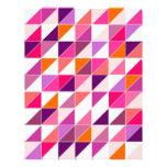 Mosaico rosado del triángulo que envuelve el diseñ membrete personalizado