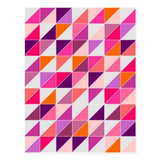 Mosaico rosado del triángulo que envuelve el diseñ tarjetas postales