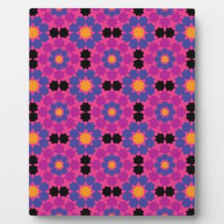 Mosaico rosado púrpura placas de madera