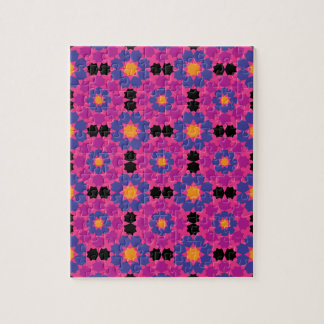 Mosaico rosado púrpura puzzle