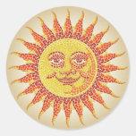 Mosaico Sun Etiquetas Redondas