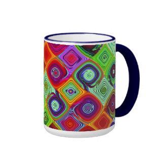 Mosaico Taza De Dos Colores