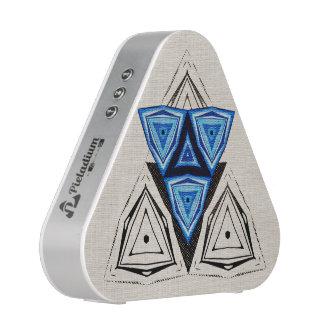 Mosaico triangular azul altavoz