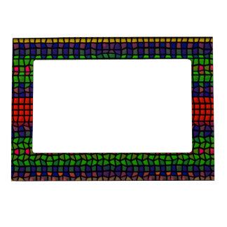 Mosaico tribal marcos magneticos para fotos