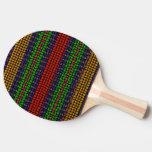 Mosaico tribal pala de ping pong