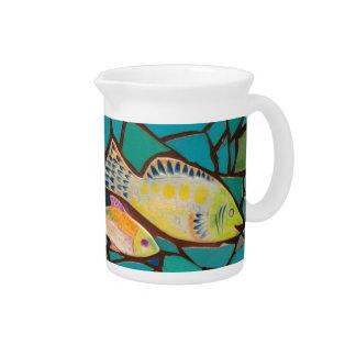 Mosaico tropical de los pescados