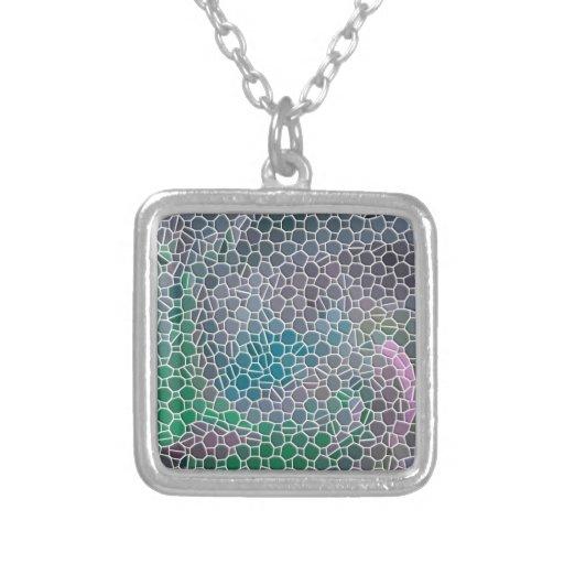 Mosaico verde colgante cuadrado