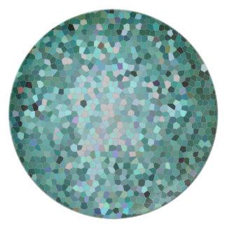 Mosaico verde platos para fiestas