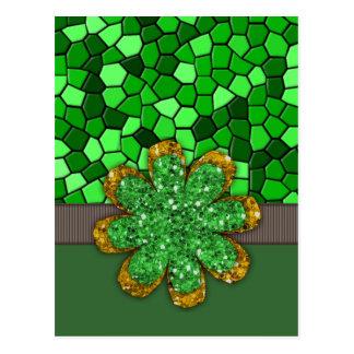 Mosaico verde postal