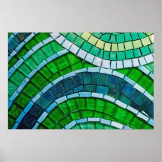 Mosaico verde póster