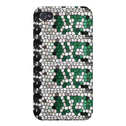 Mosaico/verde verdes de Mosaico iPhone 4 Protector