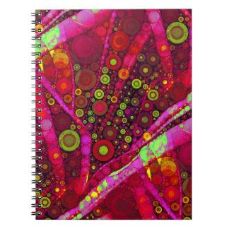 Mosaico vibrante del círculo concéntrico de las ro cuaderno