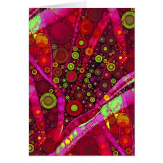 Mosaico vibrante del círculo concéntrico de las tarjeton