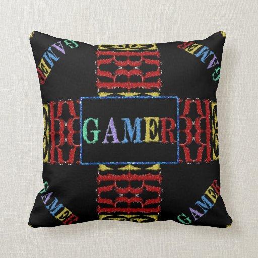 Mosaico video moderno del videojugador almohada