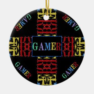 Mosaico video moderno del videojugador ornaments para arbol de navidad