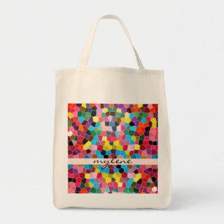 Mosaico vivo abstracto del caramelo del arco iris bolsa de mano