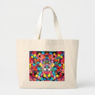 Mosaico vivo del caramelo del arco iris del vitral bolsa