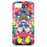 Mosaico vivo del caramelo del arco iris del vitral iPhone 5 protectores