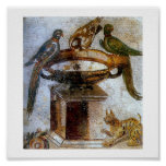Mosaicos antiguos del vintage (Pompeya) Posters