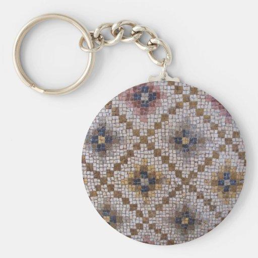 Mosaicos bizantinos romanos de Antioquía Llavero Redondo Tipo Pin