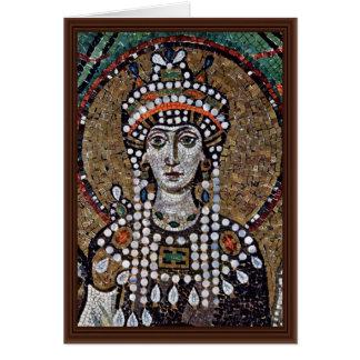 Mosaicos de Chor en San Vitale en Ravena, Szene: E Tarjeta
