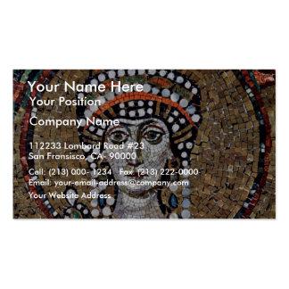 Mosaicos de Chor en San Vitale en Ravena, Szene: E Tarjetas Personales