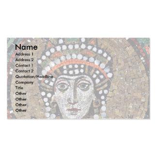 Mosaicos de Chor en San Vitale en Ravena, Szene: E Plantillas De Tarjeta De Negocio