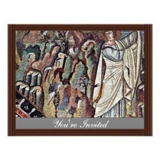 Mosaicos de Chor en San Vitale en Ravena Szene M Invitacion Personalizada