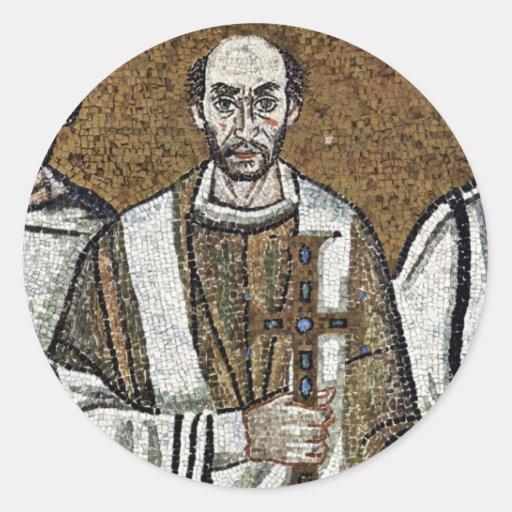 Mosaicos de Chor en San Vitale en Ravena, Szene: Pegatina Redonda