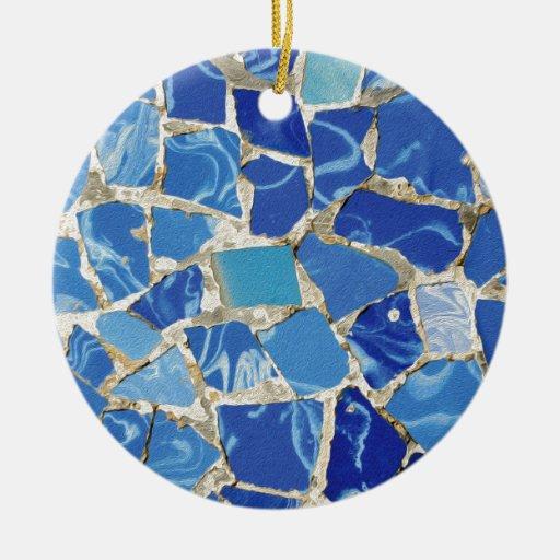 Mosaicos de Gaudi con un tacto del aceite Ornatos