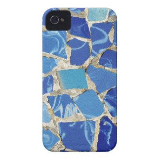 Mosaicos de Gaudi con un tacto del aceite iPhone 4 Carcasa