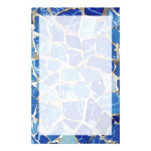 Mosaicos de Gaudi con un tacto del aceite Personalized Stationery