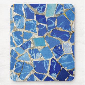 Mosaicos de Gaudi con un tacto del aceite Tapete De Ratón